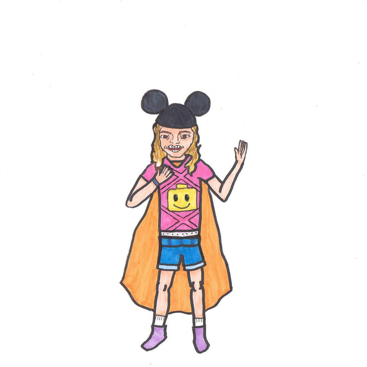 """""""This one was commissioned by my aunt Pamela Harmon and uncle Michael S. Harmon of their daughter (my cousin) Emily. She likes Disney and Lego."""""""