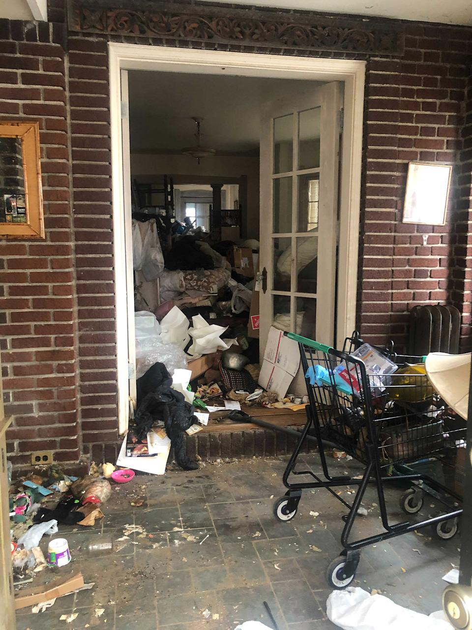 Evelyn Sakash's home filled with rubbish