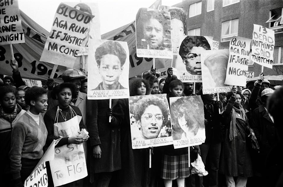 Uprising - New Cross Fire Protest 1981. (BBC/Rogan Productions/Getty Images)