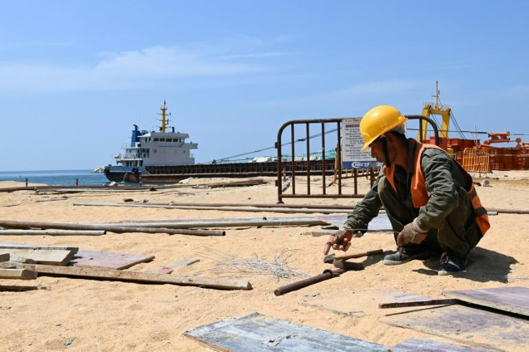 Sri Lanka's Port City is among several major infrastructure projects affected by the coronavirus outbreak, with many Chinese workers not having returned after the Lunar New Year holiday