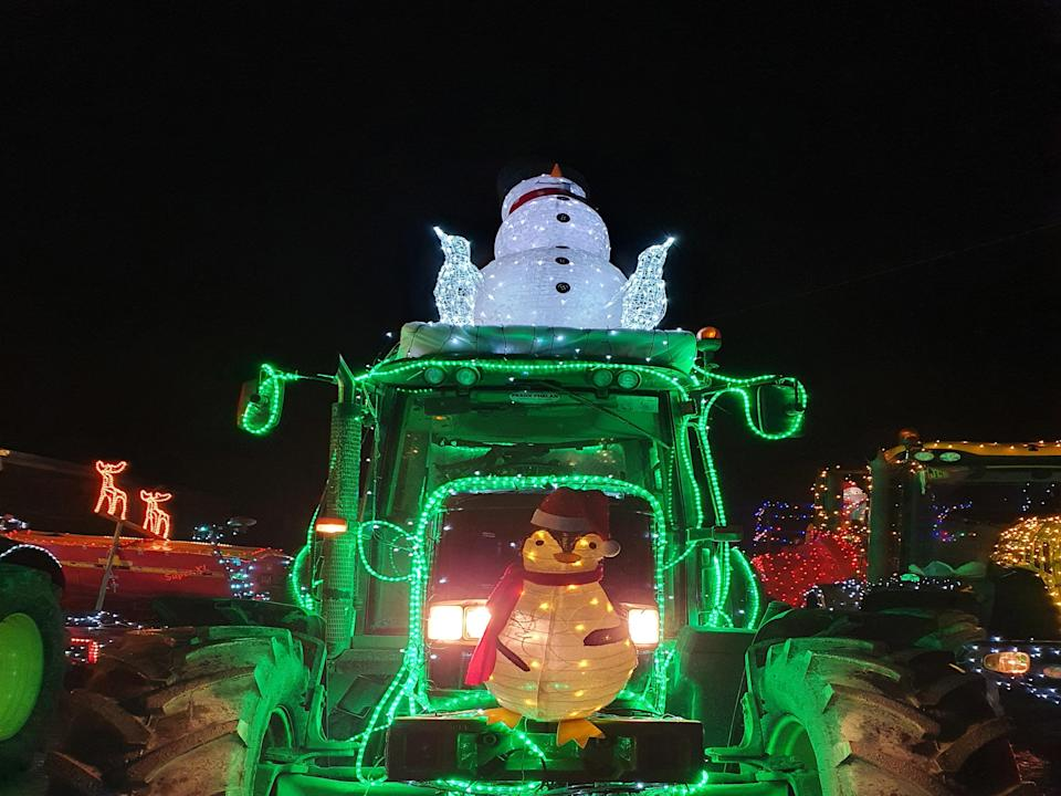 The 'Christmas Tractors of Nenagh' on show in Co Tipperary, Ireland