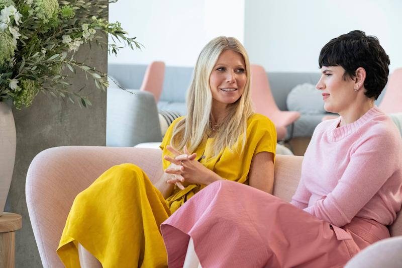 """Gwyneth Paltrow and Goop Chief Content Officer Elise Loehnen in """"The Goop Lab."""" (Photo: Netflix)"""