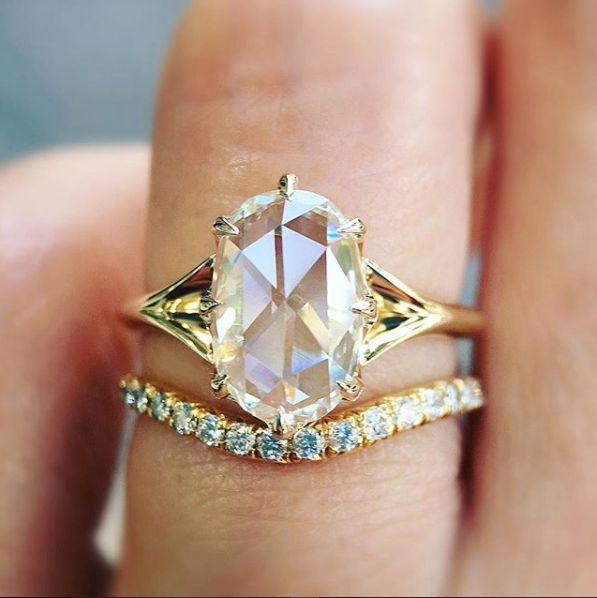 """<i>Buy it from <a href=""""https://trabertgoldsmiths.com/products/1-72ct-rose-cut-diamond-orion-ring"""" target=""""_blank"""">Trabert Goldsmiths</a>for$11,500.</i>"""