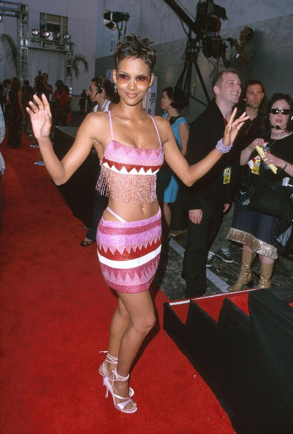 <p>The 2000s became less about a certain style and more about fabrics and patterns. Cotton, jersey, and knits had big moments in the new millennium, as did bold patterns and midriff-baring silhouettes.</p>