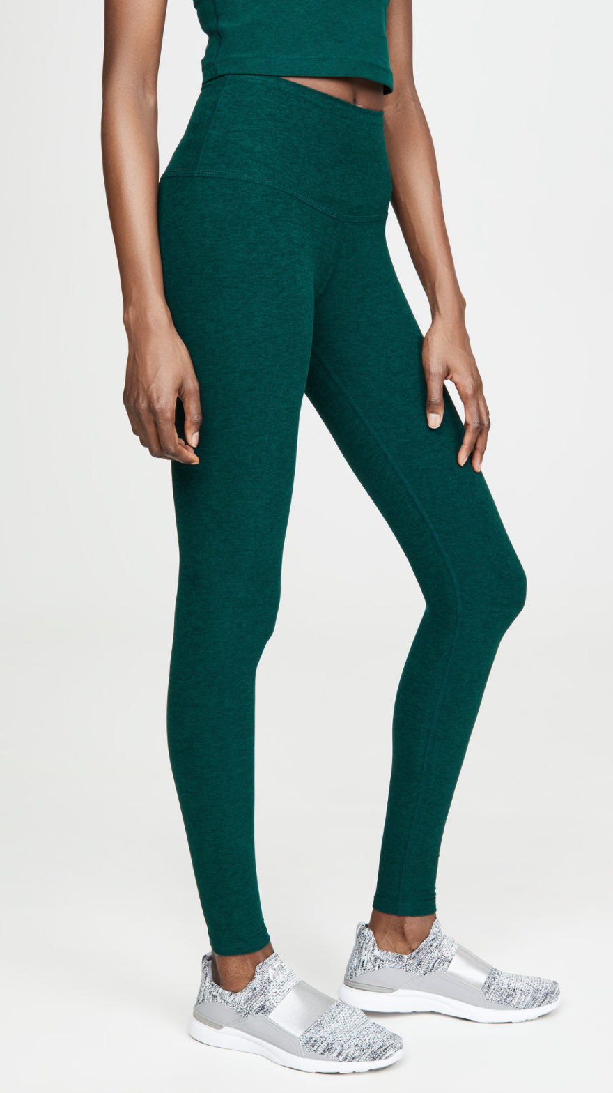 Beyond Yoga 'Spacedye Take Me Higher' Long Leggings in Hunter Green (Photo via ShopBop)