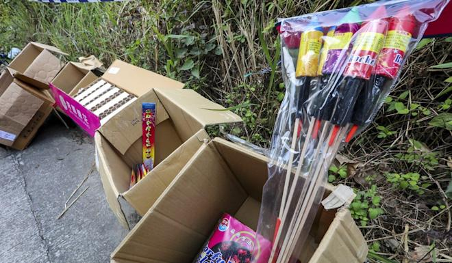 Police suspect the fireworks were smuggled from mainland China for sale during Lunar New Year. Photo: Felix Wong