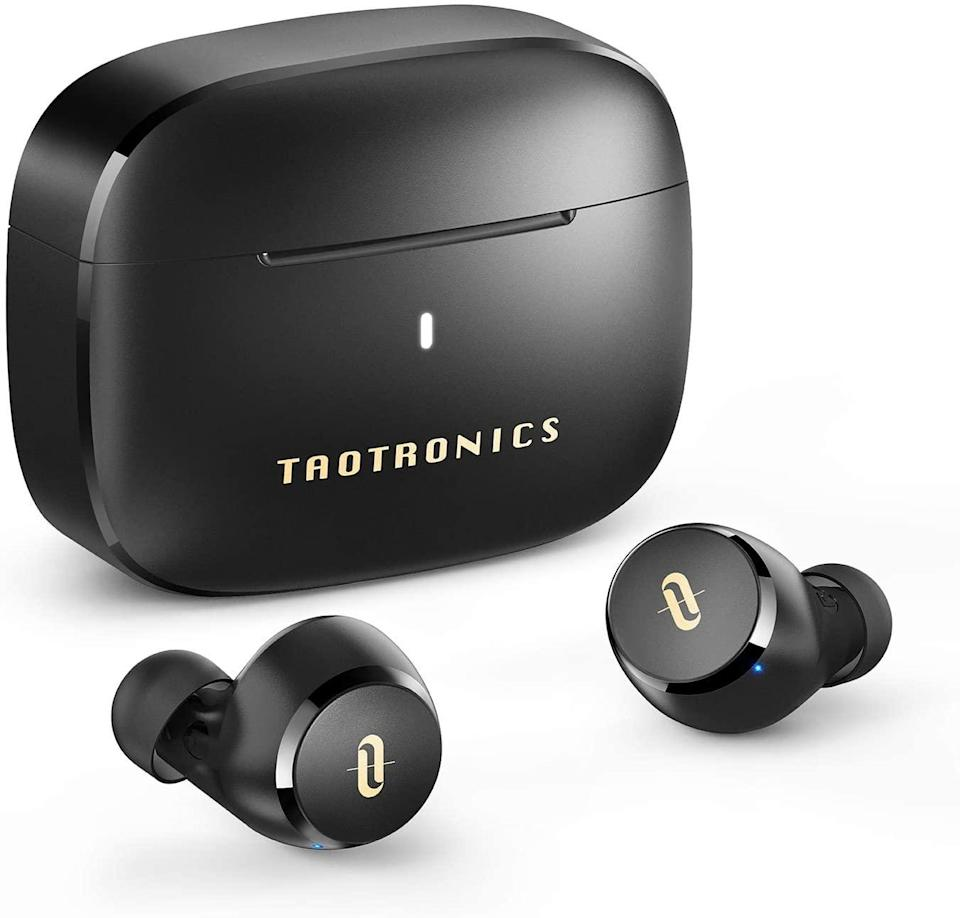 """· <br><br><br><br><br><strong>TaoTronics</strong> Wireless Earbuds, Bluetooth 5.0 Headphones, $, available at <a href=""""https://amzn.to/3f7lhW8"""" rel=""""nofollow noopener"""" target=""""_blank"""" data-ylk=""""slk:Amazon"""" class=""""link rapid-noclick-resp"""">Amazon</a>"""