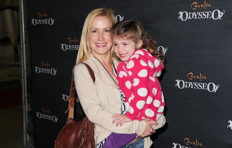 Angela Kinsey and her daughter attend an event in 2013 in California.