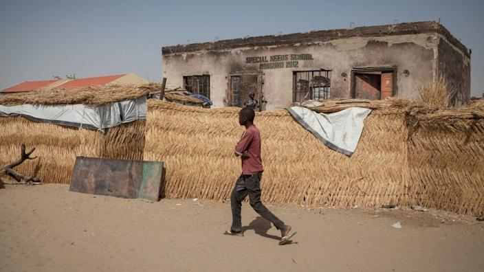 Monguno is host to many people who have fled their homes during Boko Haram's decade-long insurgency