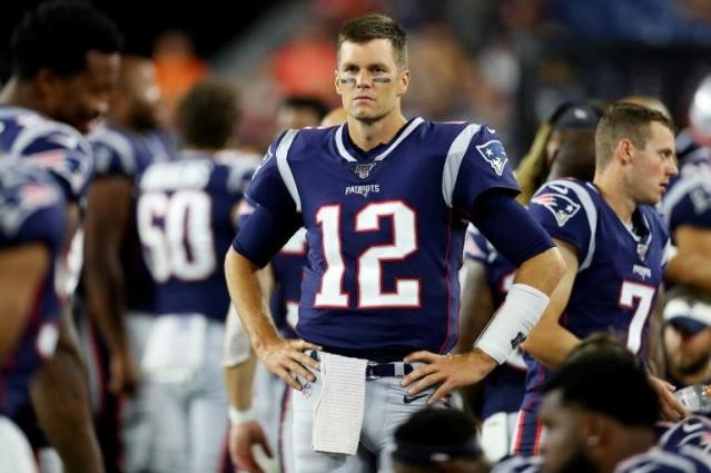 New England Patriots quarterback Tom Brady, gearing up for the 2019 NFL season, lost his bid to trademark the nickname 'Tom Terrific' which US officials ruled belongs to Tom Seaver of baseball's New York Mets (AFP Photo/Maddie Meyer)