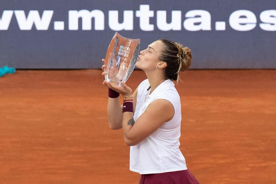 <p>Although Sabalenka hasn't won a Grand Slam singles title yet, she does have 10 WTA singles titles to her name throughout her career, including the 2019 WTA Elite Trophy in Zhuhai, China, the 2020 Ostrava Open in the Czech Republic, the 2021 Abu Dhabi Open, and the 2021 Madrid Open.</p>