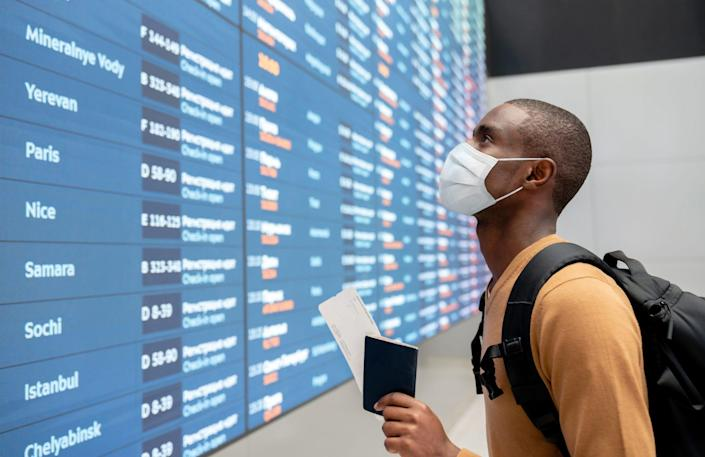 Passengers are required to wear a mask while flying by all major U.S. airlines, as well as at the airport.