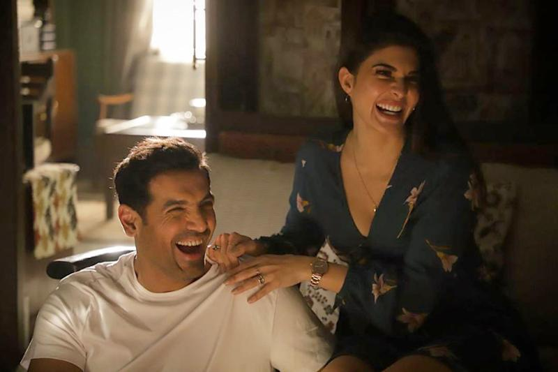 Jacqueline Fernandez and John Abraham Bond Over Fitness on Attack Sets