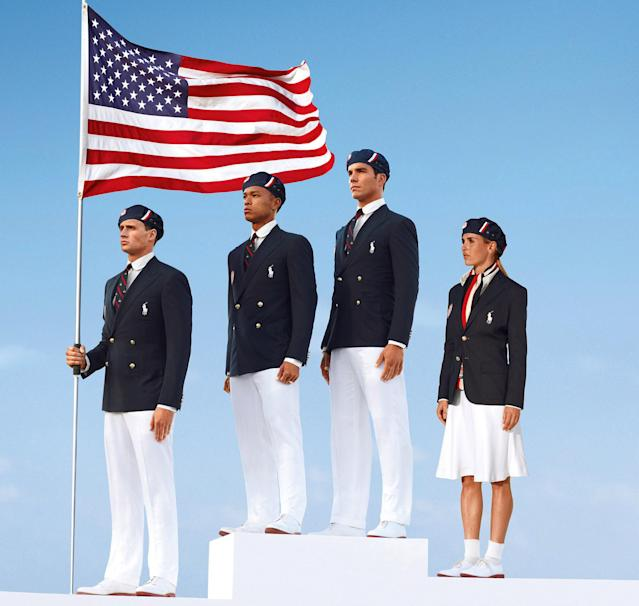 United States Opening Ceremony uniforms for the London Games (AP Photo/Ralph Lauren)