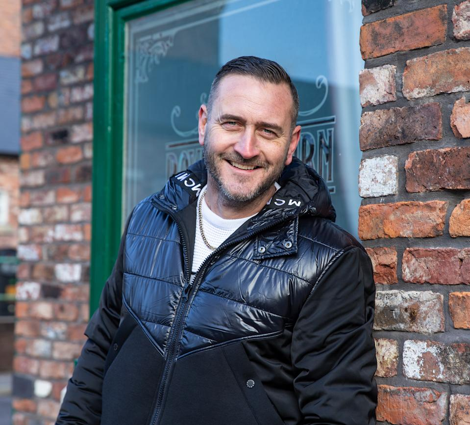 Will Mellor admits his Corrie role is his most villainous ever. (ITV)