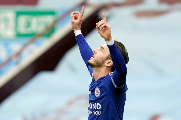 Flying Foxes: James Maddison opened the scoring for Leicester in a 2-1 win at Aston Villa