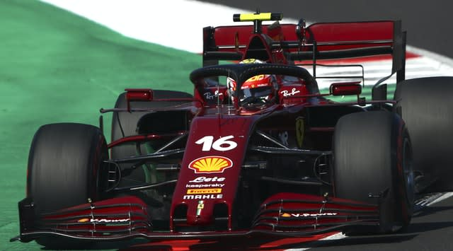 Charles Leclerc put his Ferrari fifth on the grid