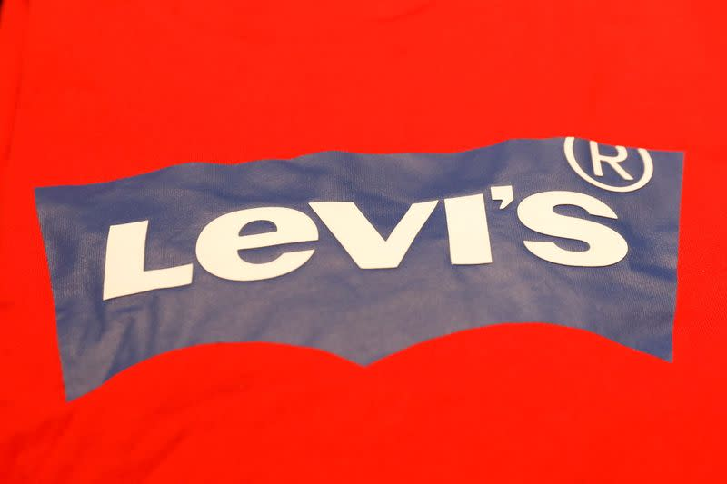 FILE PHOTO: A Levi's logo is seen on a shirt in a Levi Strauss store in New York