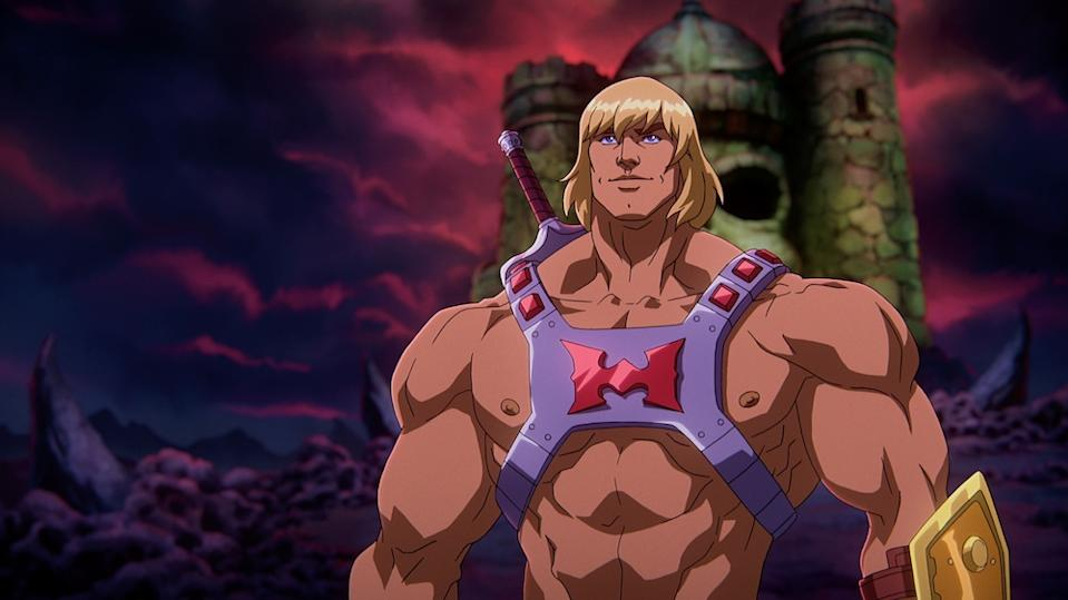 He-Man (Chris Wood) in Masters of the Universe: Revelation. (Netflix)