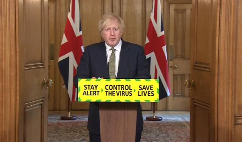 Screen grab of Prime Minister Boris Johnson during a media briefing in Downing Street, London, on coronavirus (COVID-19). (Photo: PA)