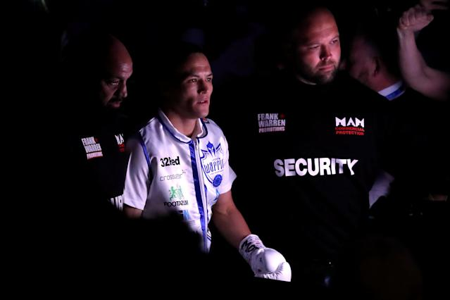 Boxing - Lee Selby vs Josh Warrington - IBF World Featherweight Title - Elland Road, Leeds, Britain - May 19, 2018 Josh Warrington during the ring walk before the fight Action Images via Reuters/Peter Cziborra