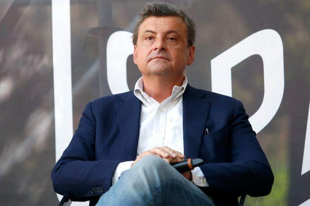 The candidate mayor of Rome at the next elections, Carlo Calenda during a confrontation at the Acquario Romano, during the 'Festival del'Architettura'.
