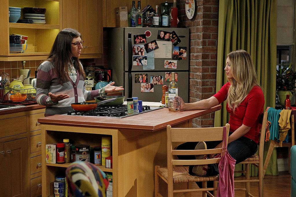 """The Skank Reflex Analysis"" -- Amy (Mayim Bialik, left) and the gang deal with the aftermath of Penny (Kaley Cuoco, right) and Raj's night together, while Sheldon takes command of the paintball team, on the fifth season premiere of THE BIG BANG THEORY, Thursday, Sept. 22 (8:00-8:31 PM, ET/PT) on the CBS Television Network.   Photo: Cliff Lipson/CBS ©2011 CBS Broadcasting Inc. All Rights Reserved. Big Bang Theory"