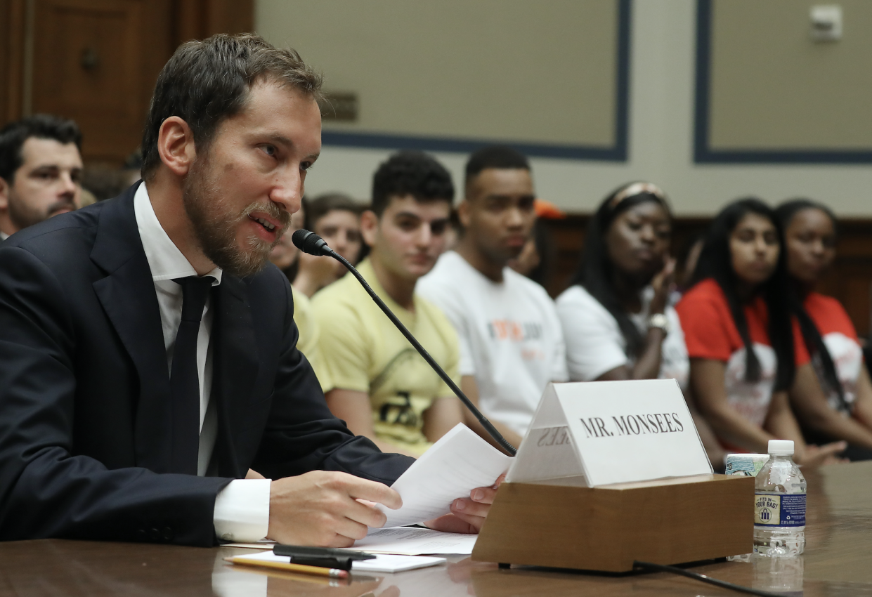 James Monsees, co-founder and chief product officer at JUUL Labs Inc., testifies on July 25, 2019 in Washington, DC. (Photo: Mark Wilson/Getty Images)
