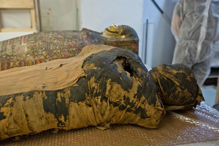 Researchers have discovered that an ancient Egyptian mummy was actually a pregnant woman, not a male priest as they previously thought. / Credit: BARTOSZ BAJERSKI / Warsaw Mummy Project