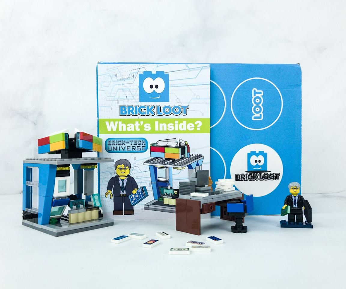 """<p><em>$25+ per month<br>Ages: 6+</em></p><p><a class=""""body-btn-link"""" href=""""https://www.brickloot.com/"""" target=""""_blank"""">BUY NOW</a></p><p>For the LEGO enthusiast, this box comes stuffed with <strong>bricks, LEGO sets, and LEGO-compatible third-party items</strong> so your kids can fulfill their Master Builder fantasies. It was started by a true fan when he was just 9 years old!</p>"""
