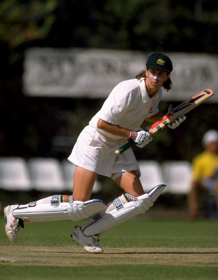 11 Aug 1998:  Belinda Clark of Australia in action against England in the second test at Harrogate, England. The match was drawn and the series stood at 0-0. \ Mandatory Credit: Mike Hewitt /Allsport