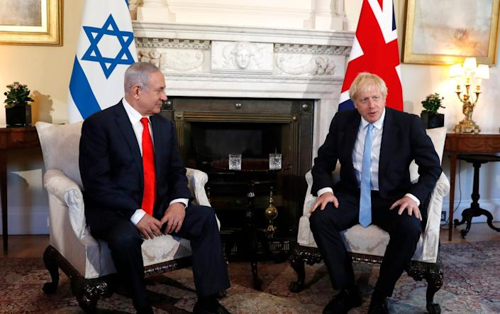 Prime Minister Boris Johnson with Israel's Prime Minister Benjamin Netanyahu at 10 Downing Street in 2019 - Alastair Grant/WPA Pool/Getty Images