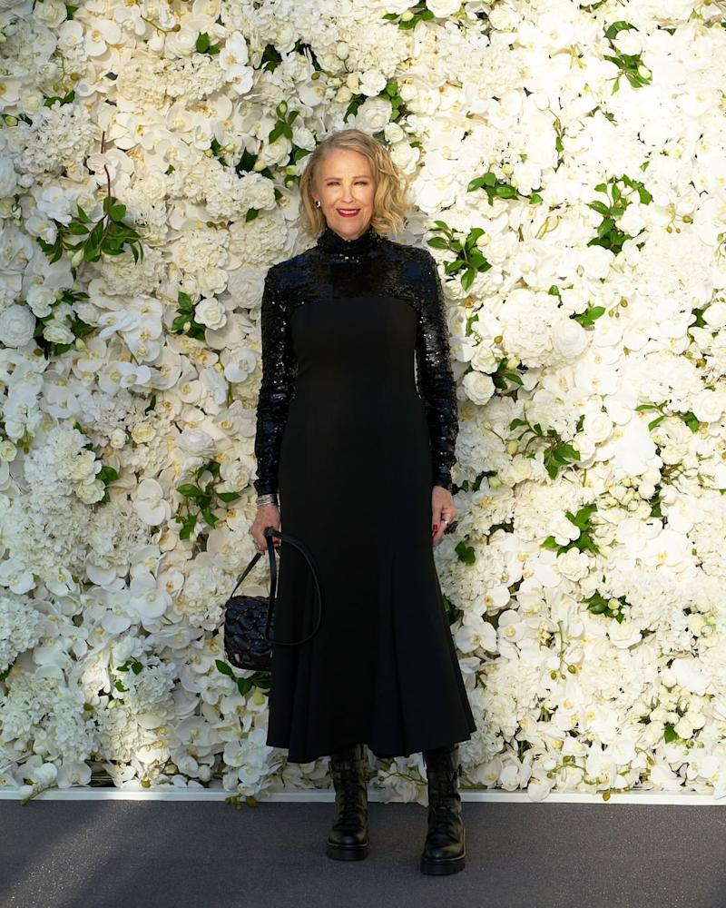 Catherine O'Hara wore Valentino. Photo: Instagram/schittscreek.