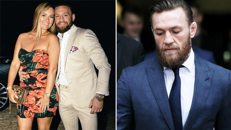 Conor McGregor, pictured here with fiancee Dee Devlin on holiday in France.