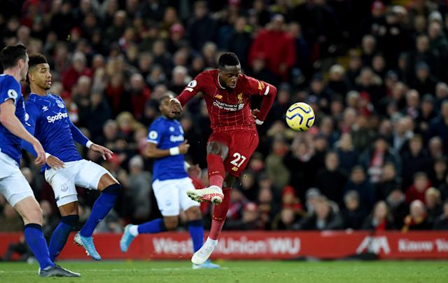 But Origi scored a delightful third to put the hosts back in firm control. (Photo by John Powell/Liverpool FC via Getty Images)
