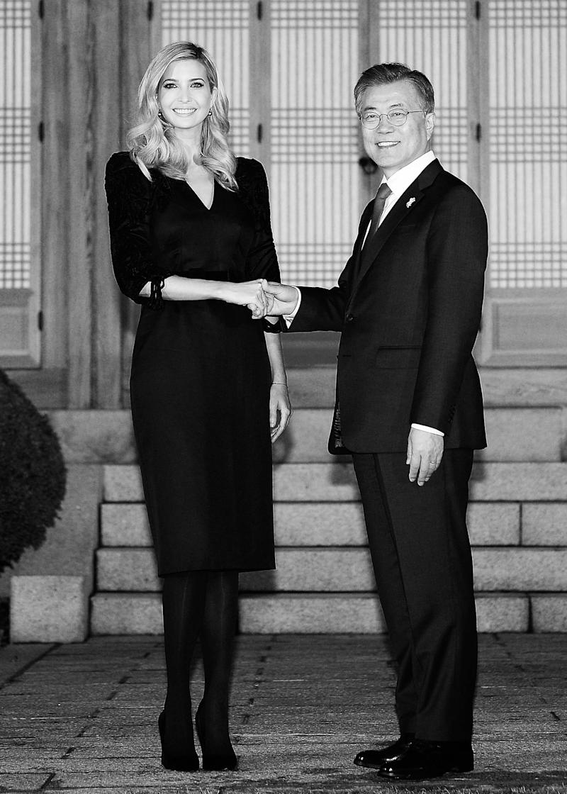 Ivanka Trump has finally landed in South Korea for the 2018 Winter  Olympics, where South Korean president Moon Jae-in has already showered the  guest of ...