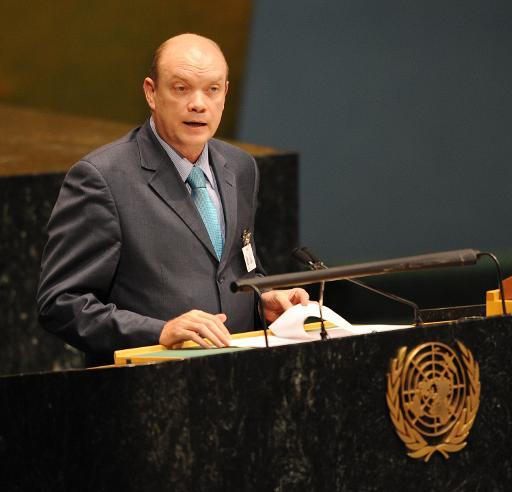 <p>Rodrigo Malmierca Diaz, Minister of Foreign Trade and Foreign Investment of Cuba, speaks at a UN conference, in New York, June 24, 2009</p>