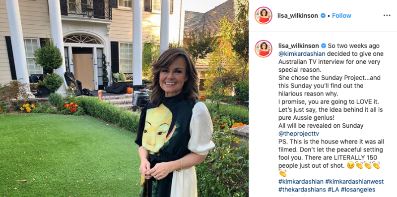 Lisa Wilkinson in La for Kim Kardashian interview