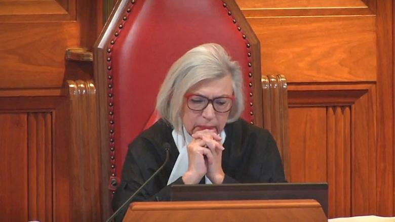 Supreme Court of Canada chief justice hears final case, fights back tears