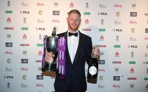 <span>Stokes was named player of the year at the PCA Awards </span> <span>Credit: Getty images </span>