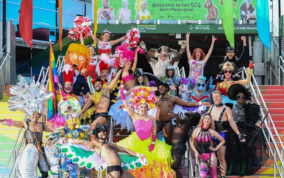 The 43rd Sydney Gay and Lesbian Mardi Gras Parade is at Sydney Cricket Ground because of the pandemic - James D. Morgan/Getty Images