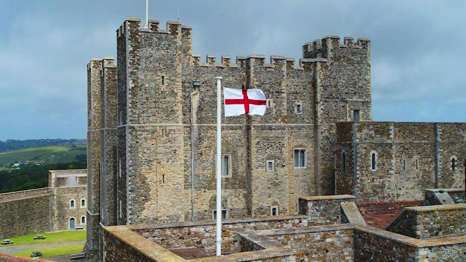 The flag outside Dover Castle (English Heritage/PA)