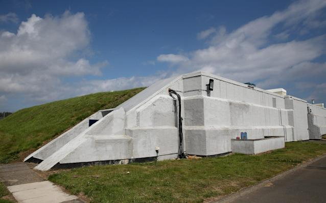 Part of the fortified bunker at Scarborough, used by GCHQ. Photo taken during a visit by Prince Charles on July 30, 2014. - Getty Images Europe