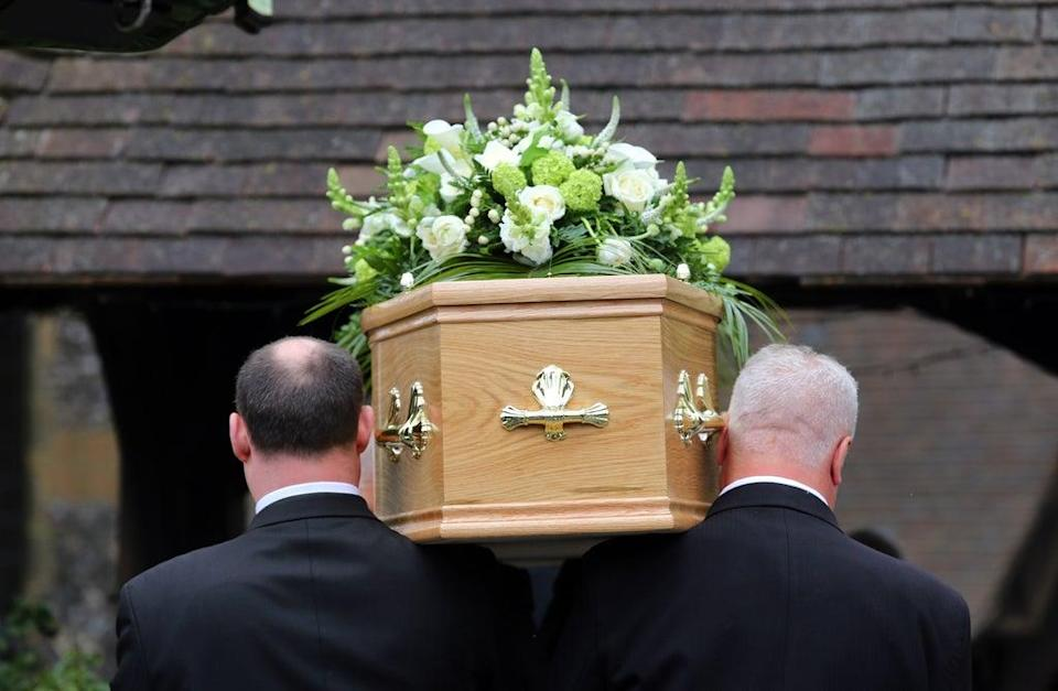 Spending on each funeral rose from £2,461 in the first half of last year to £2,628 in the first six months of 2021, Dignity said (PA) (PA Wire)