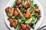 """<a href=""""https://www.bonappetit.com/recipe/spice-drawer-chicken-wings?mbid=synd_yahoo_rss"""" rel=""""nofollow noopener"""" target=""""_blank"""" data-ylk=""""slk:See recipe."""" class=""""link rapid-noclick-resp"""">See recipe.</a>"""