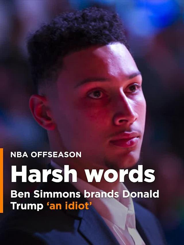 <p>76ers rookie Ben Simmons brands Donald Trump 'an idiot,' worse in harsh criticism. </p>