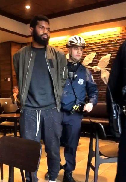 PHOTO: Two men were arrested at a Starbucks in Philadelphia, April 12, 2018. (Twitter)