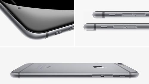 Side view of iPhone 6 and 6 Plus