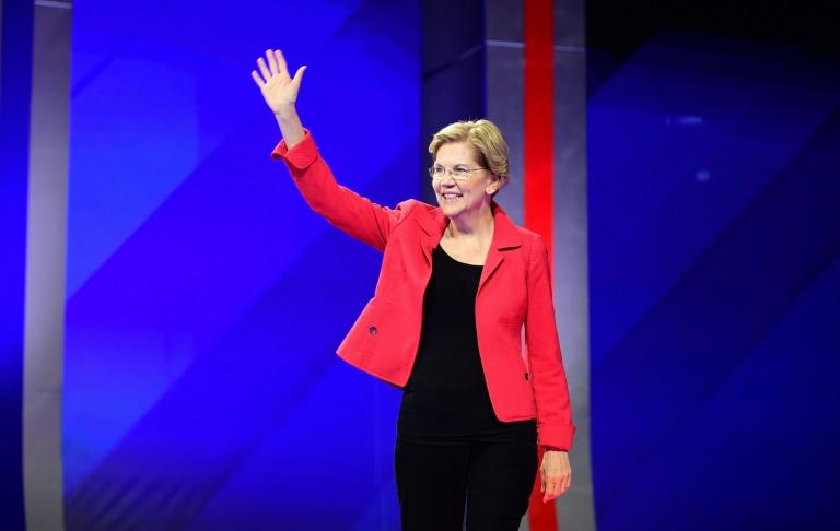 The progressive US Senator Elizabeth Warren has emerged as a chief rival to the centrist frontrunner Joe Biden in the race for the Democratic presidential nomination in 2020 (AFP Photo/Frederic J. BROWN)