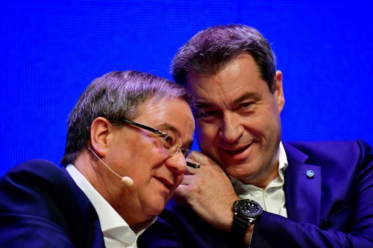 State Premier of North Rhine-Westphalia Armin Laschet (Left) is facing stiff competition by the leader of the conservative Christian Social Union (CSU) party Markus Soeder (Right) to replace German Chancellor Angela Merkel when she steps down